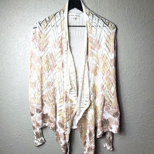 Knox Rose Women's Floral Crocheted Cardigan Sz. XS